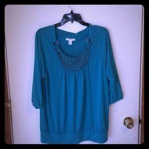 4for$25 Dress barn turquoise shirt